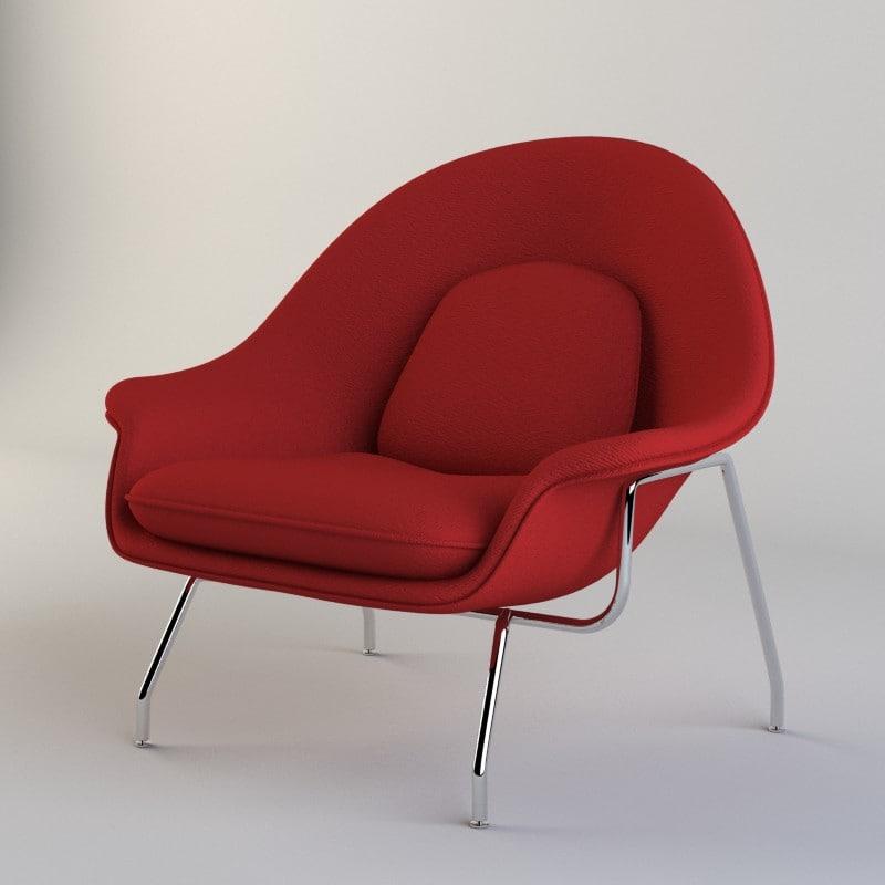 3d saarinen womb chair