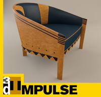 chair african themed 3d model