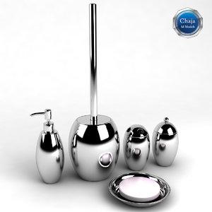 3d bathroom accessories bath