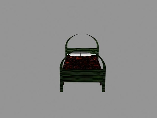 free s bed death 3d model