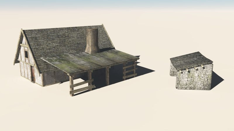 3d blacksmith cottage