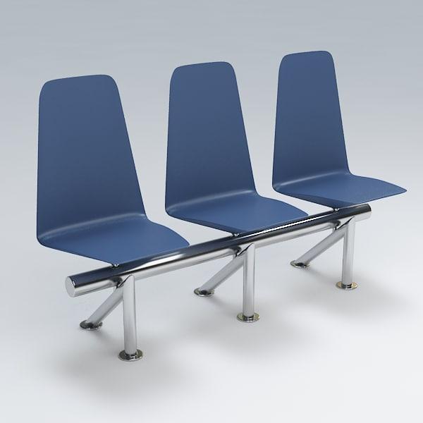 chair waiting 3d max