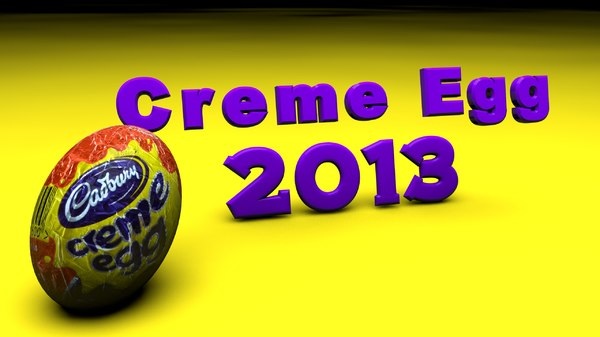 creme egg 3d model