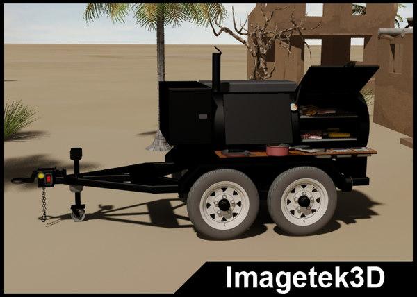 3d charcoal tandem axle trailer