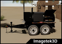 3d charcoal tandem axle trailer