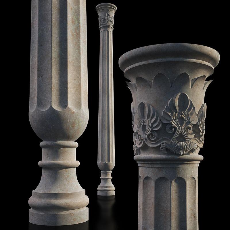 3dsmax classical column