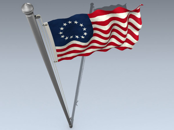3ds max flag betsy ross