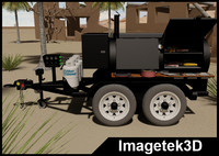 Propane Gas Tandem Axle Trailer Mounted Barbecue (BBQ) Grill