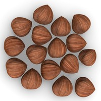 nut hazelnut hazel 3d 3ds