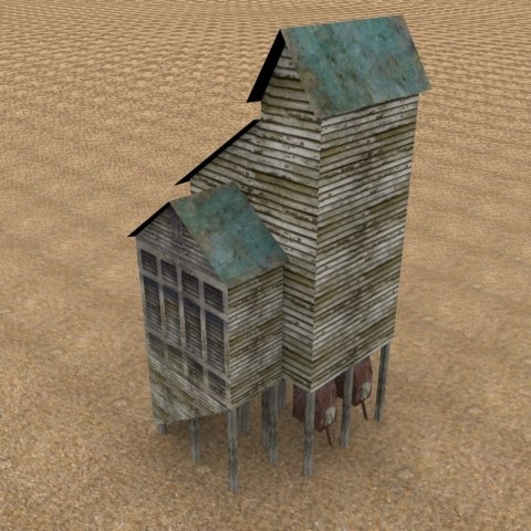 3d coal tower model