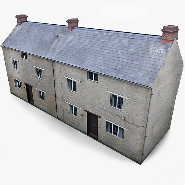 3ds photorealistic english village house
