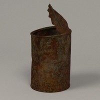 3d model of rusty food