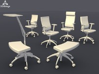 3d conference chair set11 -
