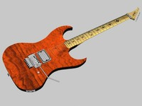 3d custom guitar model