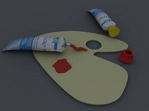 3d model paint tube