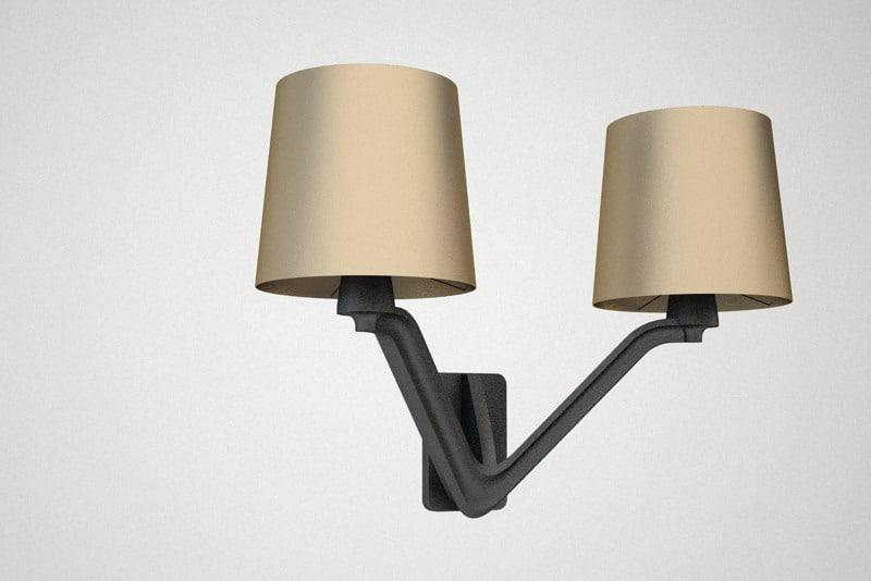 3d wall light model