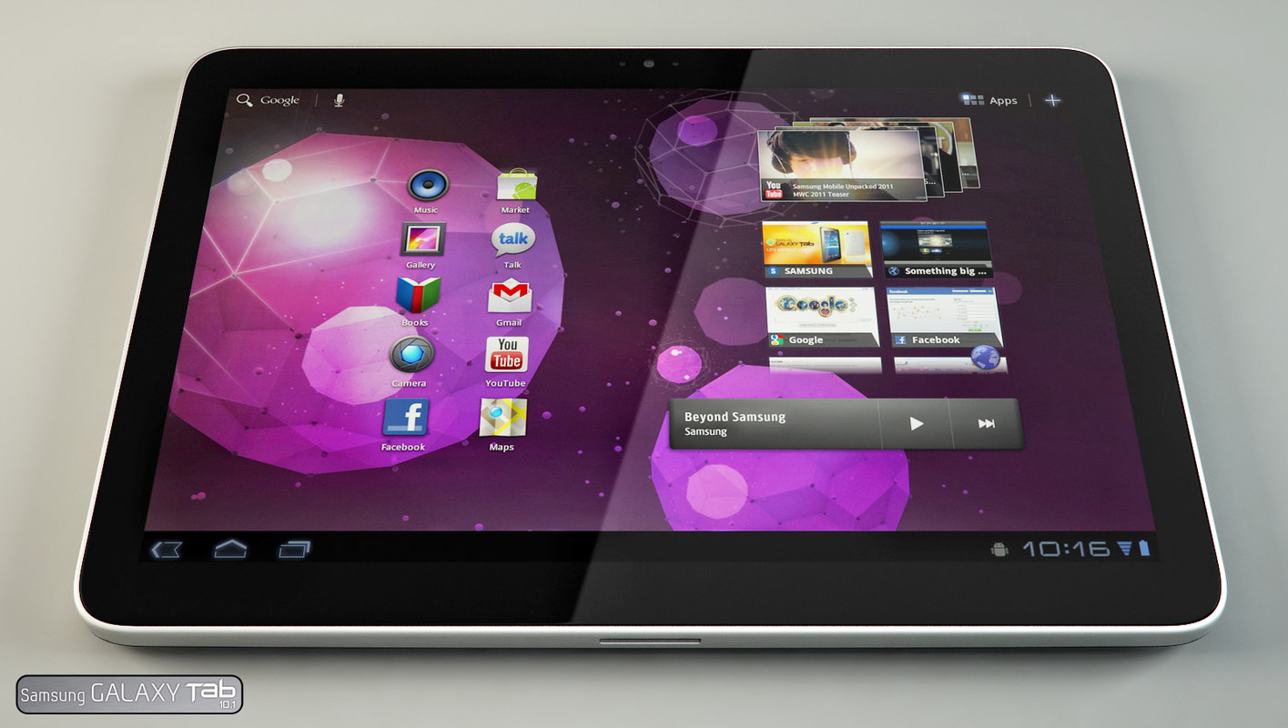3d samsung galaxy tab 10 model