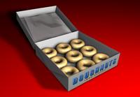 doughnuts sugar box c4d free
