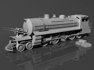 military locomotive 3d max