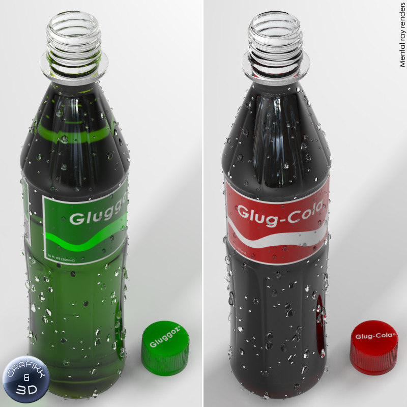 3ds max soda bottles