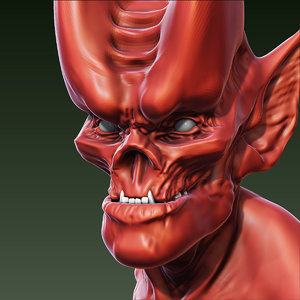 free demon head 3d model