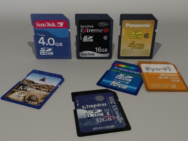 camera memory chips 3d max