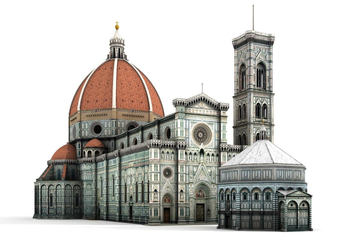santa maria cathedral florence c4d