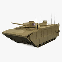 3d model expeditionary fighting vehicle efv