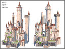 Fantasy Castle, Low Poly, Textured