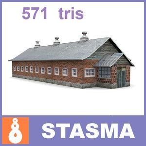 3d model old farm shed
