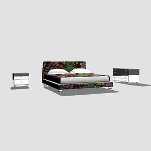 maggioni bed 3d max