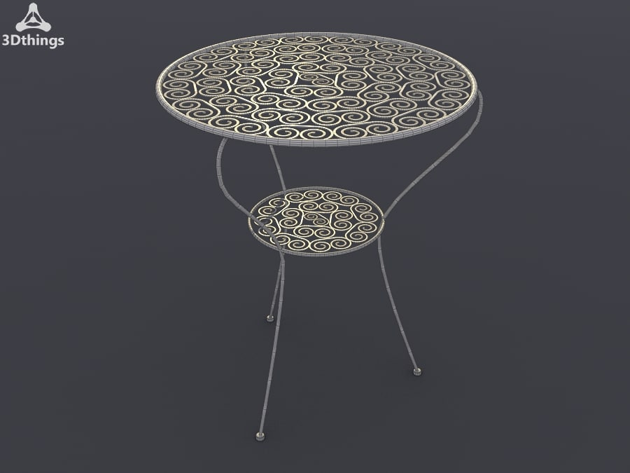 iron table moroccan obj