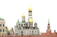 c4d moscow kremlin russia