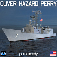 Oliver Hazard Perry Class Frigate with SH60 Seahawk
