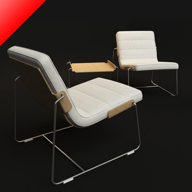 iform pancras set lounge chair 3d 3ds