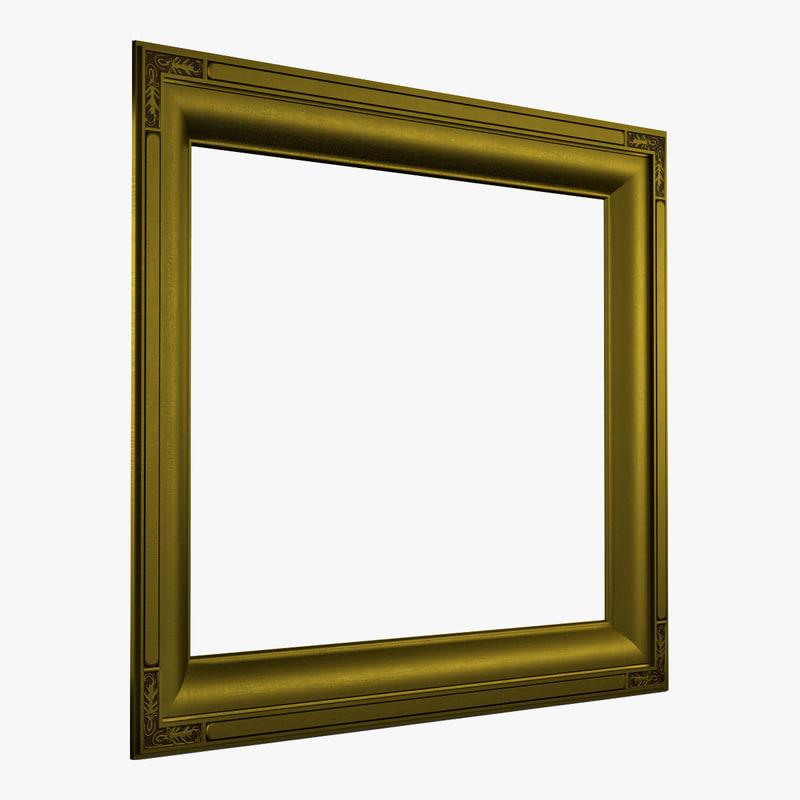 picture frame v6 3d model