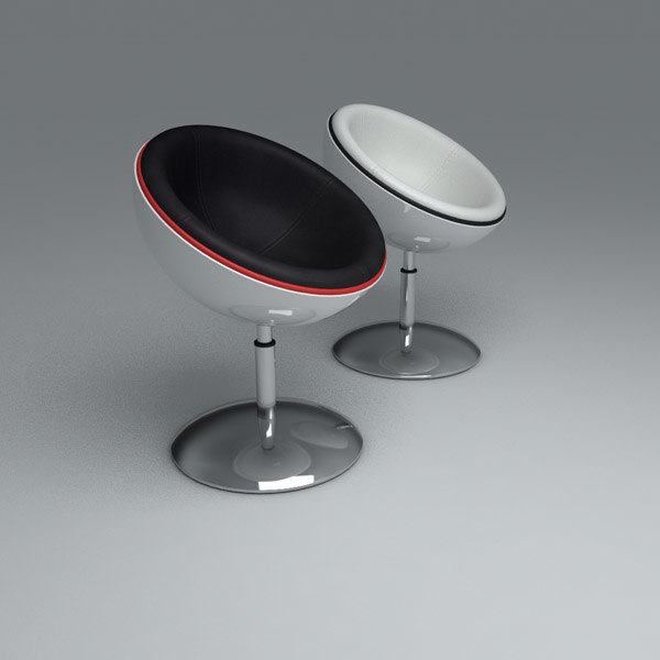 retro pod chair 3d model