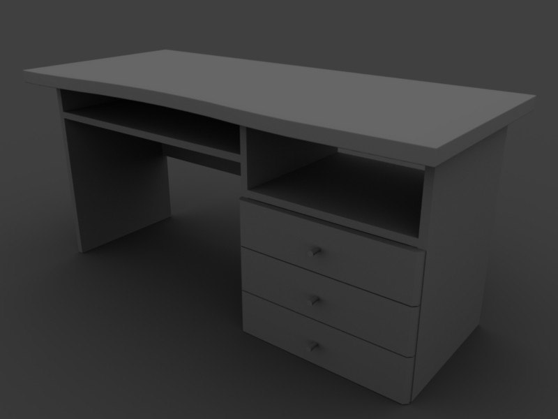 3d blend desk