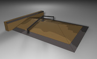 ledge skateboarding ramp c4d
