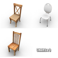 Chairs x3