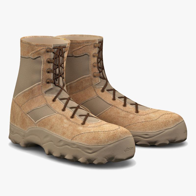 soldier boots v5 3d model