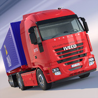 Iveco Stralis with containers semitruck