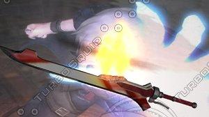sword red queen obj