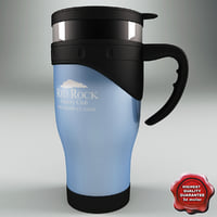 3d model thermo cup blue