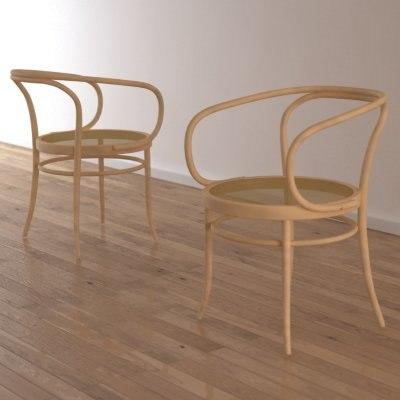 3d thonet 209 chair classic model