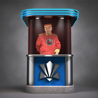 3d c4d ticket booth