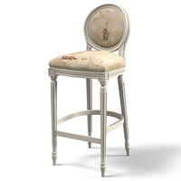 classic bar chair counter  stool provence round back