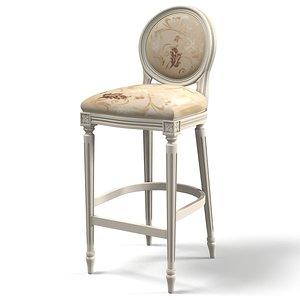classic bar chair 3d model