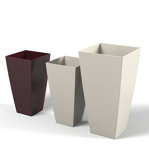 3d model of cubico floor planter