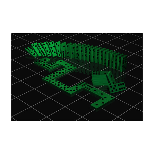 3d model dominoes dynamic position